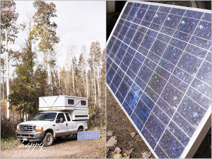 Adding a moveable solar panel to our truck camper