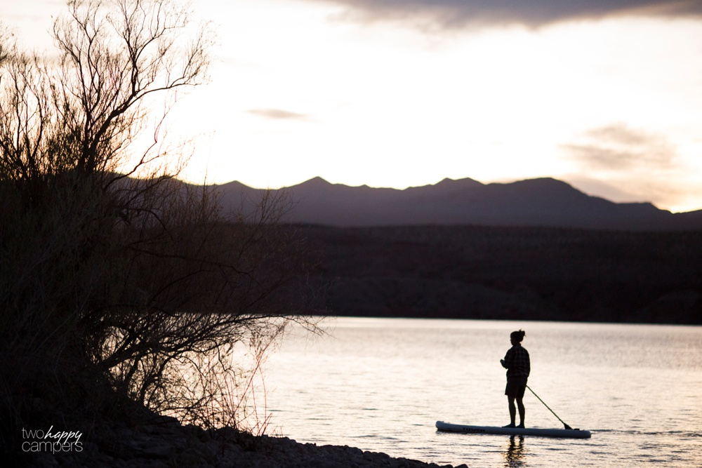 Lake Mohave paddleboarding and camping
