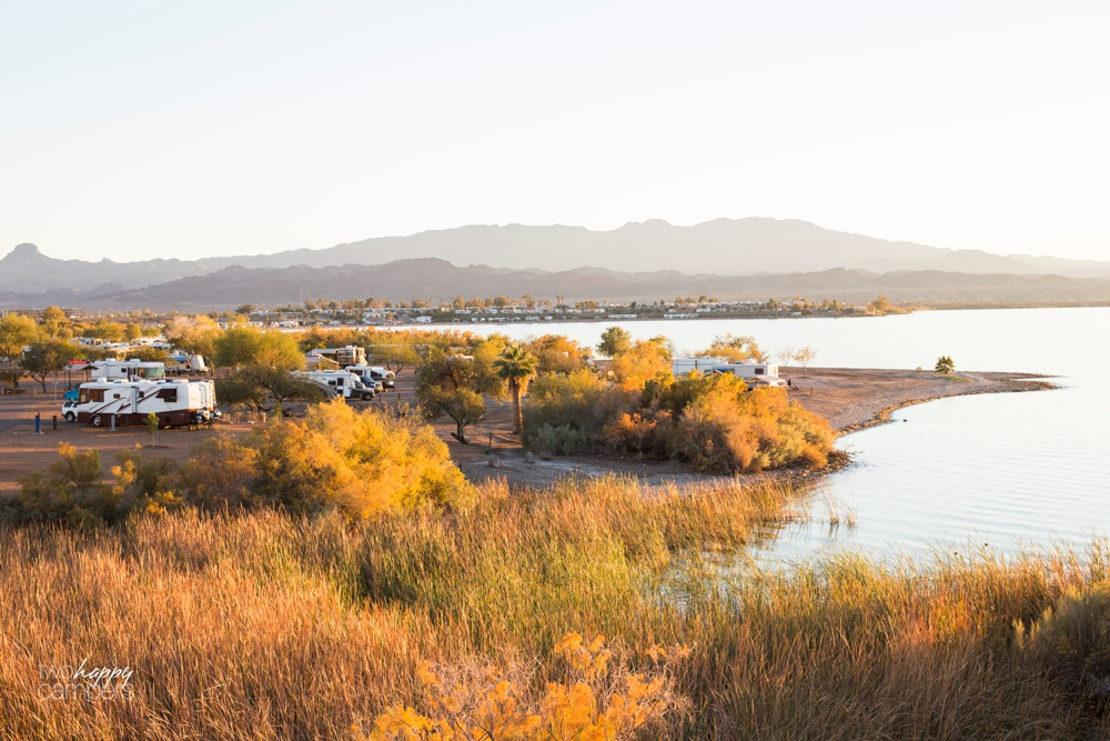 Shoreline Camping at Lake Havasu State Park