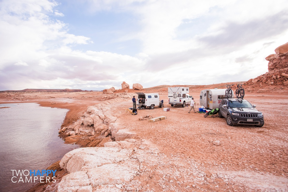 lake powell shoreline camping