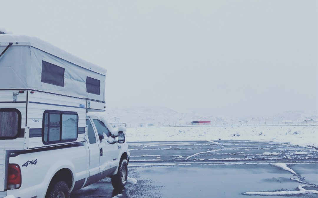 Cold-weather camping in our Four Wheel Camper