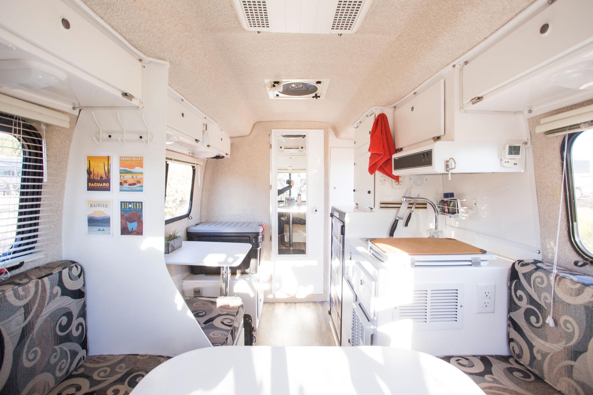 interior photo of casita travel trailer